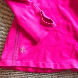 Hooded NEON Pink Athleta long sleeve.